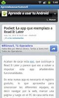 Screenshot of Aprende a usar tu movil