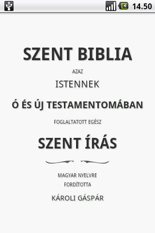 Szent Biblia Holy Bible