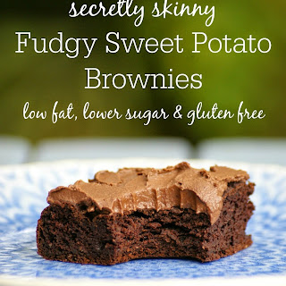 Secretly Skinny Fudgy Sweet Potato Brownies