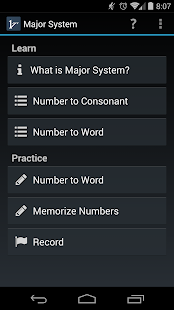 Mnemonic Major System - screenshot