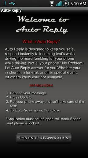 Auto Reply SMS