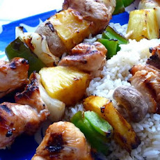 Quick & Tasty Hawaiian Chicken Kebabs