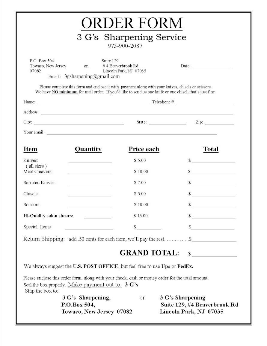 order form – Order Form