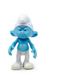 Grouchy by Jean Acevedo - Artistic Objects Toys ( chile, smurf, blue, kit lens, nikkor, white, grouchy, santiago, nikon, d5100, 18-55 )