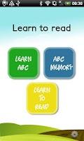 Screenshot of Learn to read (Learn ABC) FREE