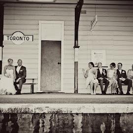 Toronto Historic Train Station by Alan Evans - Wedding Groups ( groomsmen, bridesmaids, sydney wedding photographer, newcastle wedding photographer, wedding photography, wedding day, wedding, aj photography, wedding dress, newcastle, bride and groom,  )