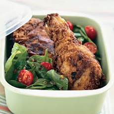Buttermilk Fried Chicken with Spinach Tomato Salad