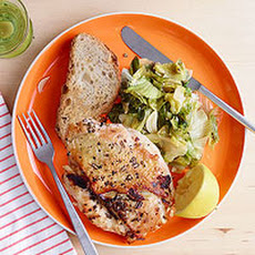 Garlic-Rosemary Chicken with Wilted Lemon Escarole