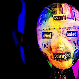 Head by Stuart Gallagher - Abstract Light Painting ( abstract, colour, colourful, light painting, mask, punk )