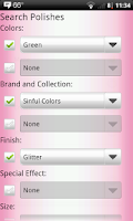 Screenshot of Nail Polish Cataloger