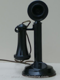 Candlestick Phones - American Electric Dial Blank Candlestick $325 1