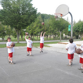Kid Clone  by Tracy Harp - Babies & Children Child Portraits ( basketball, layers, multiple )