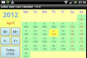 Screenshot of Julian Date Conv Calendar