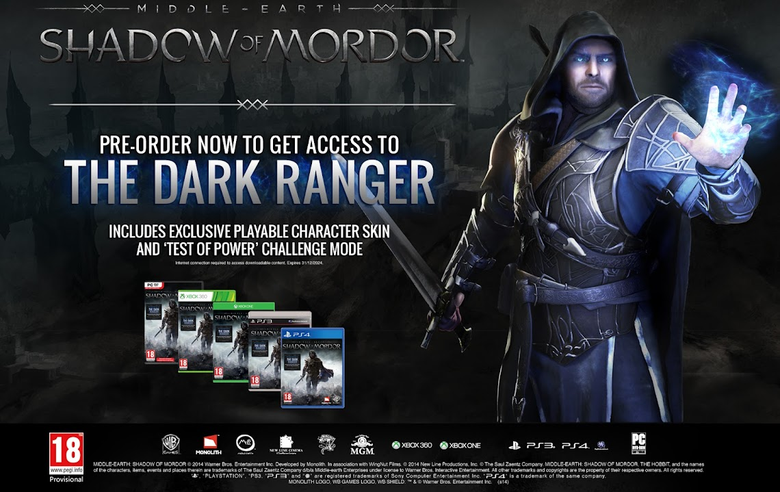 Warner Bros announces release date for Shadow Of Mordor