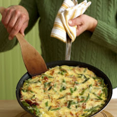 Green Bean, Ham, and Cheese Frittata
