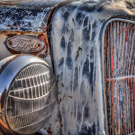 Beat Up Ford by Ron Meyers - Transportation Automobiles