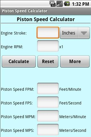 Piston Speed Cal