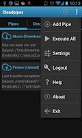 Screenshot of Cloudpipes for Dropbox