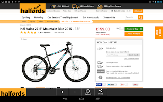 Screenshot of Halfords