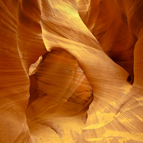 slot canyon by Stephen  Barker - Landscapes Deserts