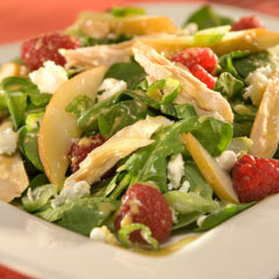 Fruity Chicken & Arugula Salad