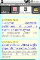 Screenshot of Notizie Regionali