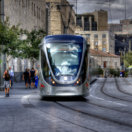 Jerusalem by Yuval Shlomo - Transportation Trains