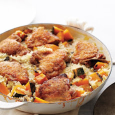 Chicken and Rice with Kabocha Squash