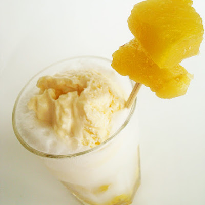 Pineapple Ice Cream Float