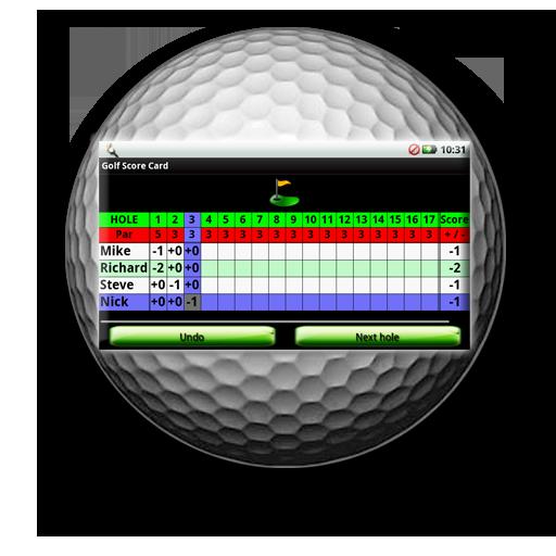 高爾夫記分卡 LOGO-APP點子