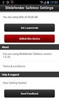 Screenshot of Bitdefender Safebox