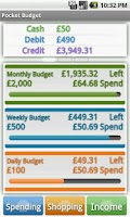 Screenshot of Pocket Budget