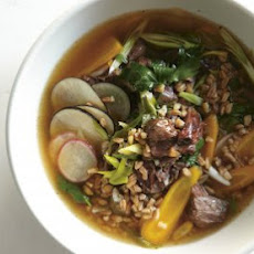 Beef Shin And Farro Soup Recipe