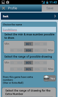 Screenshot of Universal Lotto Generator
