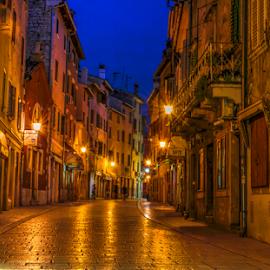 Streets of Rovinj by Siniša Biljan - City,  Street & Park  Street Scenes
