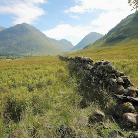 Glencoe last September...hard to envision that it was the site of a horrendous massacre in the past. by Melanie Franke - Landscapes Mountains & Hills