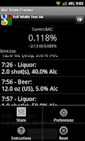 Screenshot of BAC Drink Tracker