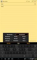 Screenshot of ThickButtons Keyboard