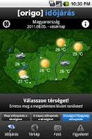 Screenshot of Origo Időjárás