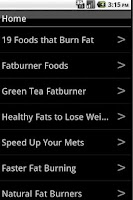 Screenshot of Foods That Burn Fat