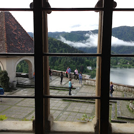 View over Bled by Dawn Simpson - Buildings & Architecture Architectural Detail ( water, slovenia, bled, tourism, castle, lake )