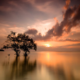 Sunset in Tanjung Pendem by Alfi Nurulhida - Landscapes Sunsets & Sunrises ( Lighting, moods, mood lighting, Hope )