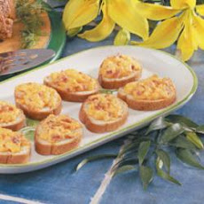Cheddar Bacon Toasts