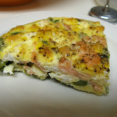 Michele's (Asparagus, Bacon, or Salmon) Crustless Quiche