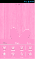 Screenshot of PinkWoody Go Launcher EX Theme