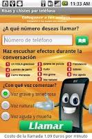 Screenshot of Risas y chistes por teléfono