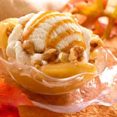 Caramel Apple Walnut Sundaes