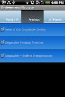 Screenshot of Environmental Educator