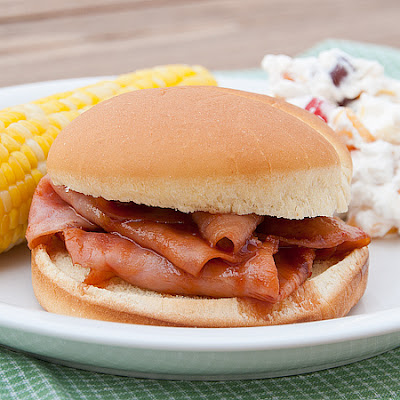 Barbecue Ham Sandwiches
