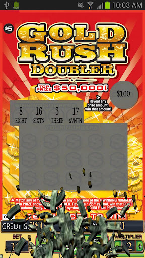 GOLD RUSH DOUBLER Lotto Card - screenshot